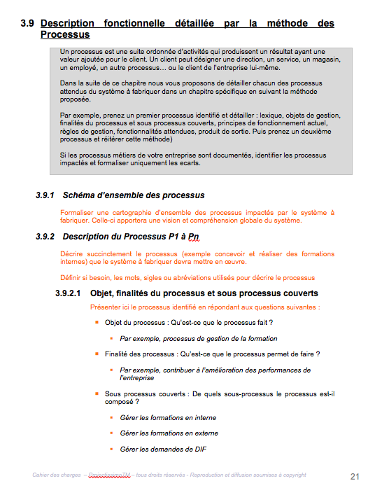 Modele Generique De Cahier Des Charges