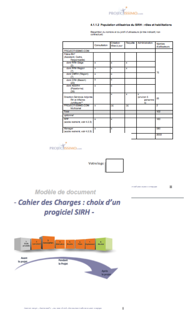 cahier des charges sirh projectissimo com   projectissimo